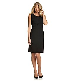 Kasper® Black Crepe Scoopneck Sheath Dress
