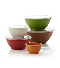Eco Life™ Set of 5 Multicolored Mixing Bowls with Lids