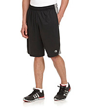 Champion Men's Double Dry® Black and Dark Gray Fitted Shorts