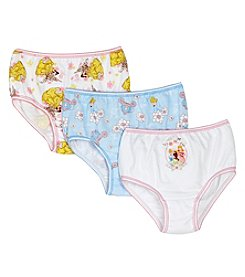 Disney Princess® Girls' 2-8 Three-Pair Panty Pack