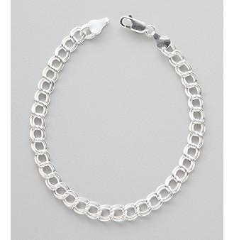Silver 100 Twin Chain Bracelet