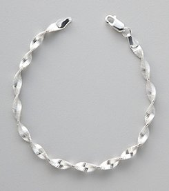 Silver 100 Magic Twist Chain Bracelet