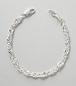 Silver 100 Singapore Chain Bracelet