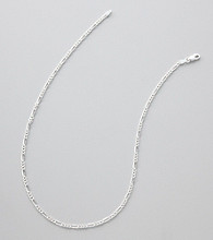Silver 100 Figaro Chain Necklace