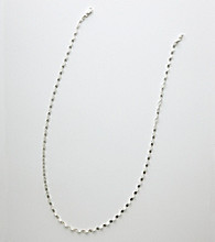 Silver 100 Diamond-Cut Disc Chain Necklace