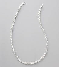 Silver 100 Multi Link Chain Necklace