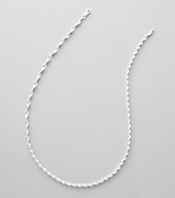 Silver 100 Snake Twist Chain Necklace