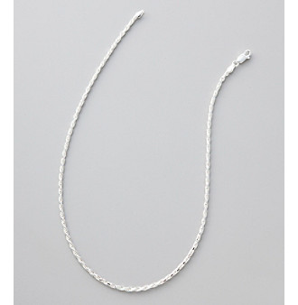 Silver 100 Diamond Cut Rope Chain Necklace