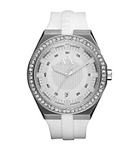 A|X Armani Exchange Men's White Silicone Watch
