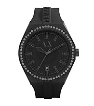 A|X Armani Exchange Men's Black Silicone Watch