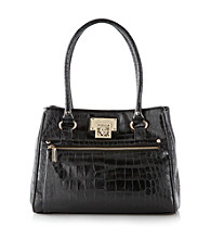 AK Anne Klein® Alligator Alley Satchel - Black