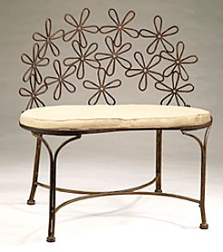 Metal Daisy Bench
