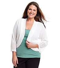Notations® Plus Size Shrug