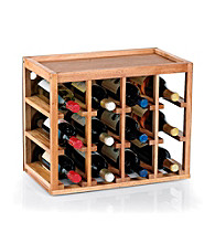 Wine Enthusiast 12 Bottle Cube-Stack Wine Rack (Natural Finish)