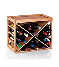 Wine Enthusiast 12 Bottle X Cube-Stack Wine Rack (Natural Finish)