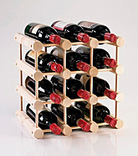 Wine Enthusiast Modular 12 Bottle Wine Rack (Natural)