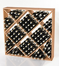 Wine Enthusiast Jumbo Bin 120 Bottle Wine Rack (Natural)