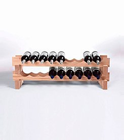Wine Enthusiast 18-Bottle Stackable Wine Rack Kit