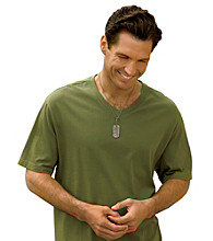 Harbor Bay® Men's Big & Tall Wicking Jersey V-Neck Tee