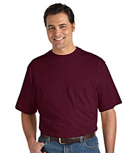 Harbor Bay® Men's Big & Tall Wicking Jersey Pocket Tee