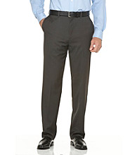 Savane® Men's Relaxed Fit Flat Front Gabardine Dress Pant