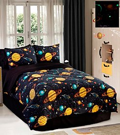 Rocket Star Glow in the Dark Comforter Set by Veratex®