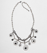 Erica Lyons® Short Shaky Disc Frontal Necklace