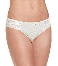Zoe & Bella @ BT Lace Bikini Briefs - Light Heather Gray