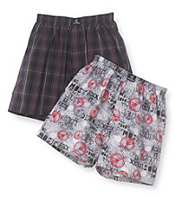 Jockey® Boys' Grey/Brown 2-pk. Woven Boxers