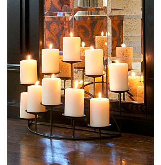 Southern Enterprises Black Preston 10-Candle Candelabra