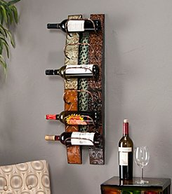 Southern Enterprises 6-Bottle Ventura Wall-Mount Wine Storage