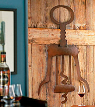 Wine Enthusiast Giant Metal Corkscrew Wall Art