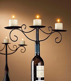 Wine Enthusiast Antiqued Wine Bottle Candelabra