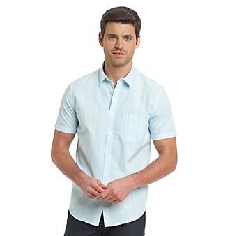 Calvin Klein Men's Plaid Dobby Woven Shirt