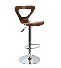 Powell® Set of 2 Fremont Walnut & Chrome Adjustable Bar Stools