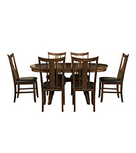 Powell® Café Tiburon American Walnut 7-pc. Dining Room Set