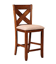 Powell® Café Kraven Set of 2 Dark Hazelnut Counter Stools