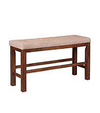 Powell® Café Kraven Dark Hazelnut Counter-Height Dining Bench