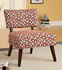 Acme Able Red Oval Pattern Accent Chair