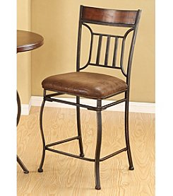 Acme Set of 2 Tavio Antique Counter Chairs