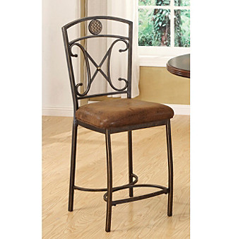 Acme Set of 2 Tavio Metal Deco Counter Chairs