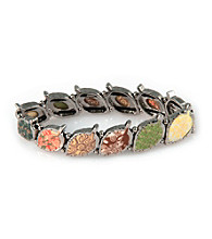 Viva Beads® Pebble Leaf Stretch Bracelet - New Harvest