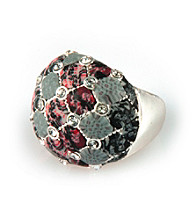 Viva Beads® Crystal Cocktail Bead Ring - Candy Apple