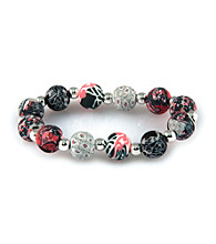 Viva Beads® Silverball 12mm Chunky Bracelet - Candy Apple