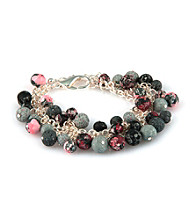 Viva Beads® Beaded Mesh Chain Bracelet - Candy Apple