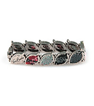 Viva Beads® Pebble Leaf Stretch Bracelet - Candy Apple