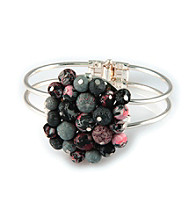 Viva Beads® Flat Cluster Cuff Bracelet - Candy Apple