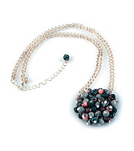 Viva Beads® Flat Cluster Necklace - Candy Apple
