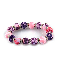 Viva Beads® Crystal 12mm Chunky Bracelet - Plum Orchard