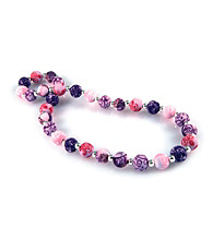 Viva Beads® Silverball 12mm Chunky Necklace - Plum Orchard
